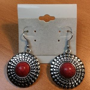 New Red and Silver Earrings